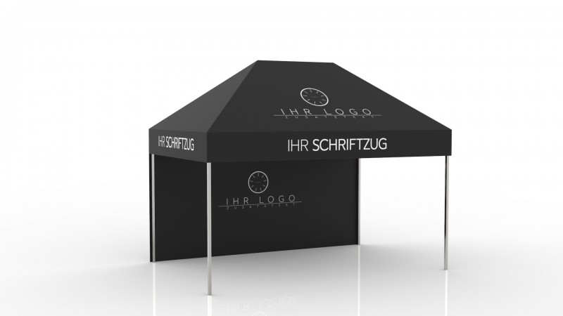 Faltzelt - Faltpavillon Steelline 3x4,5m mit Druck